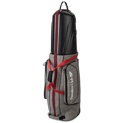Founders Club Golf Travel Bag Travel Cover Luggage for Golf Clubs with ABS Hard Shell Top