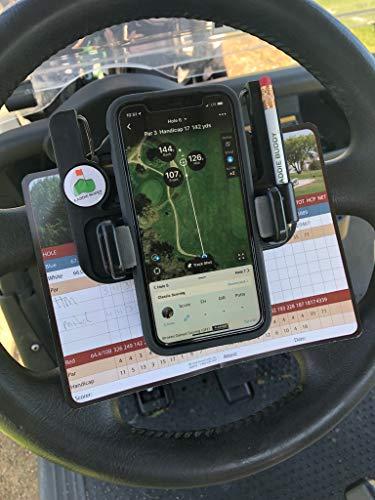 Caddie Buddy Golf Cart Steering Wheel Phone Mount