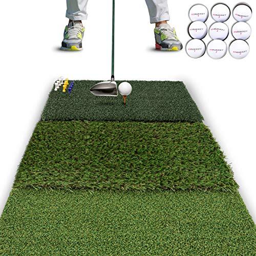 Rukket Tri-Turf Golf Hitting Mat Attack