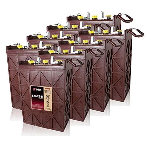 8x Trojan Deep Cycle Battery L16RE-B