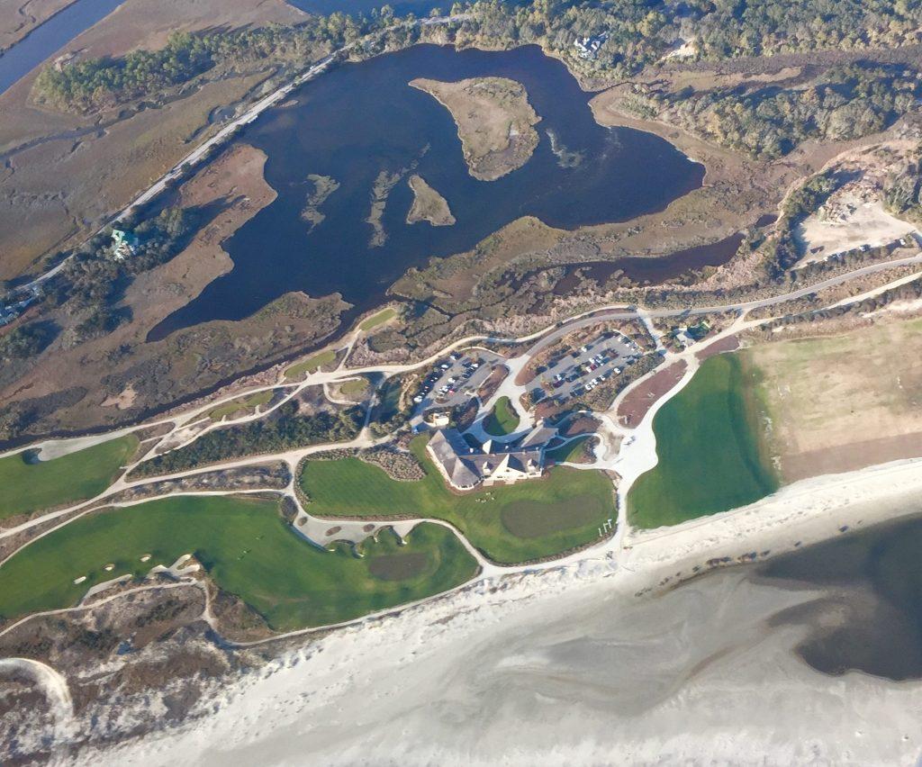 Kiawah Island Ocean Course Arial View - PG Golf Links