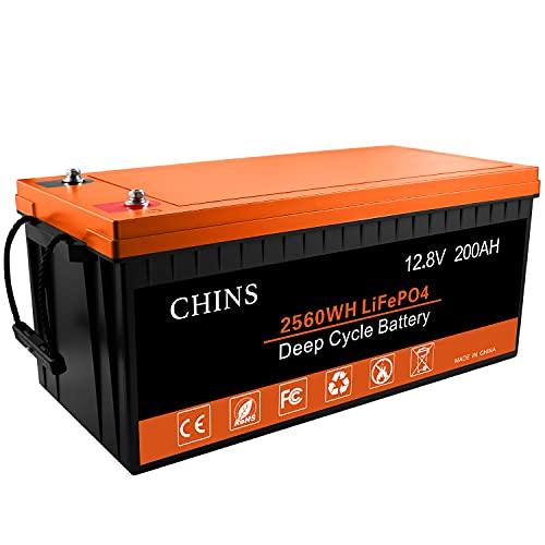 Chins 12V 200Ah LiFePO4 Battery
