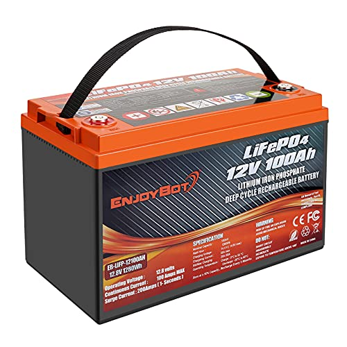 Enjoy Bot 12V 100AH Lithium Battery