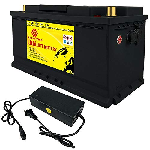 Scremower LiFePO4 Battery 100Ah 12V 1280Wh Deep Cycle Lithium Iron Phosphate Battery