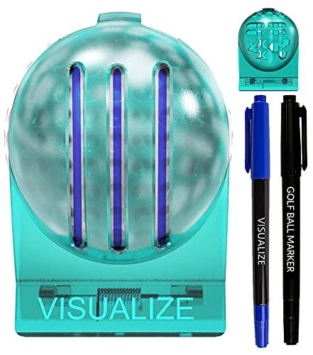 VISUALIZE The Original TRI-LINE Golf Ball Marker Kit