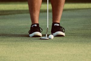 feet together golf tempo drill